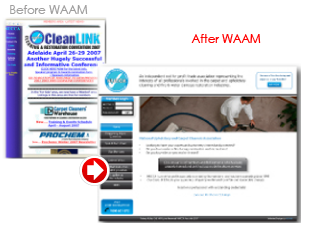 WAAM-before-after-creative-web-design-website-solution-transformation-cleanlink
